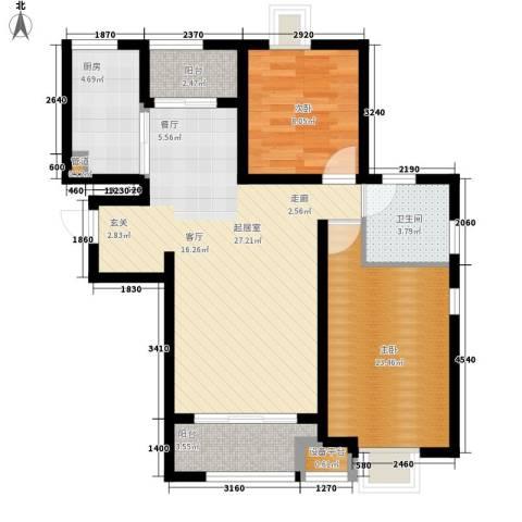 新狮新苑2室0厅1卫1厨75.00㎡户型图