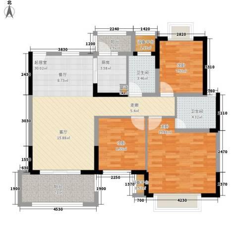 怡景园3室0厅2卫1厨123.00㎡户型图