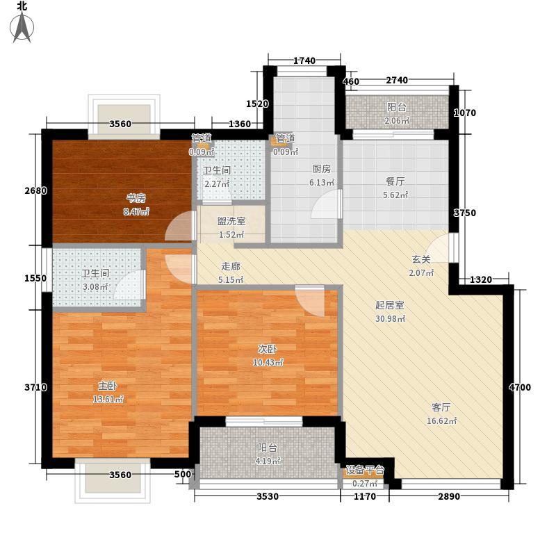 钢铁新村93.00㎡钢铁新村2室户型2室