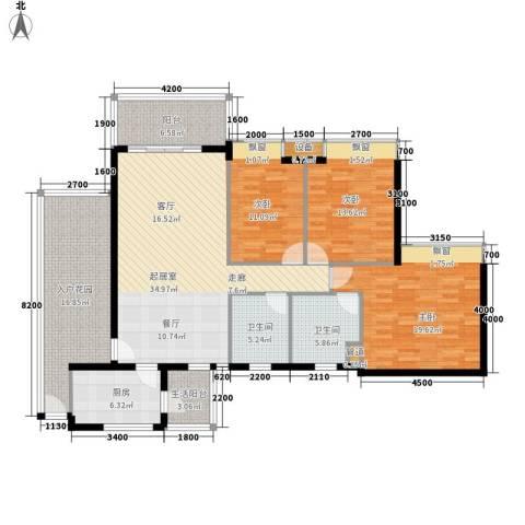 从化教师新村3室0厅2卫1厨174.00㎡户型图
