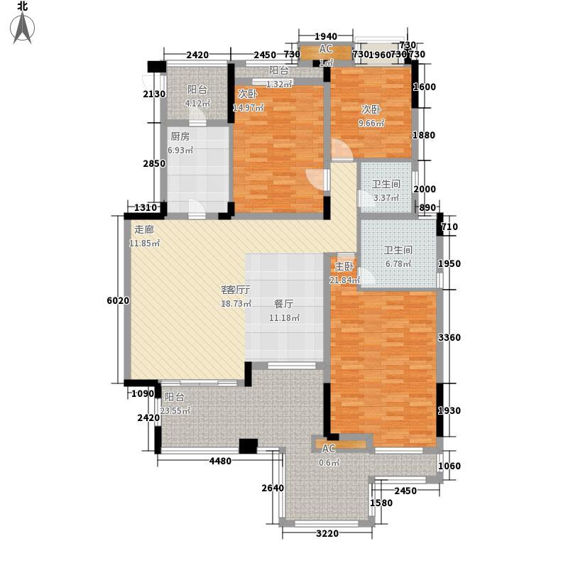 泽科港城国际洋房B3-1户型3室2厅