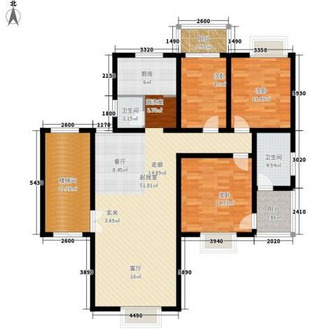 嘉逸名庭3室0厅2卫0厨161.00㎡户型图