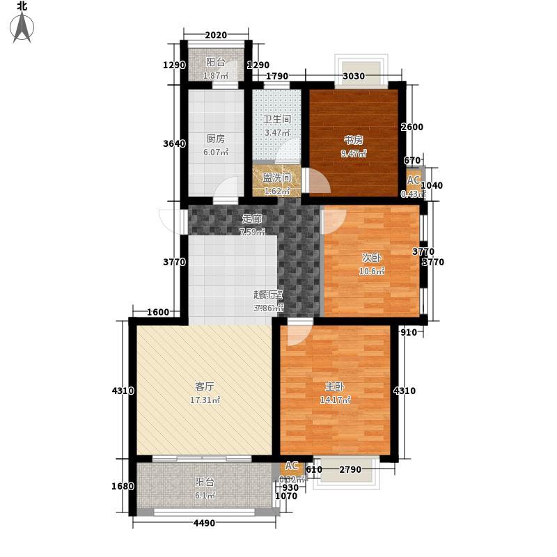理想年代113.00㎡理想年代3室户型3室