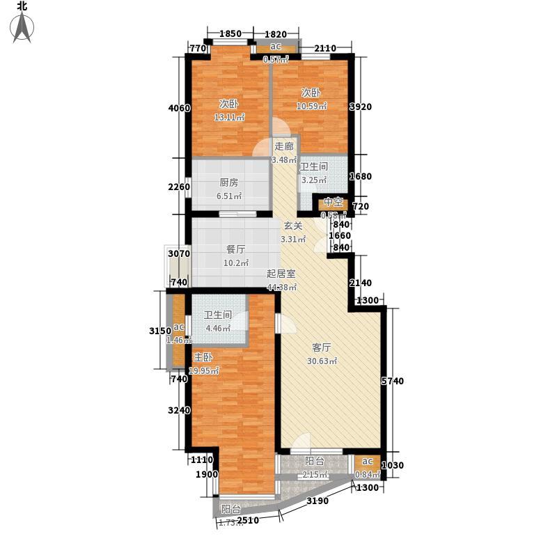 乐成国际6#标准层H反户型3室2厅2卫1厨