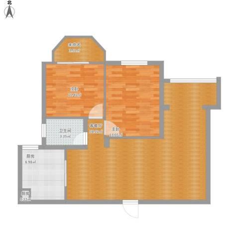 文屏大厦13D2室1厅1卫2厨105.00㎡户型图