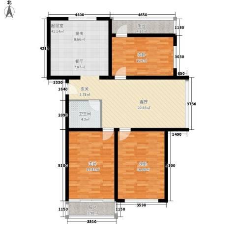 怡景嘉园3室0厅1卫0厨138.00㎡户型图