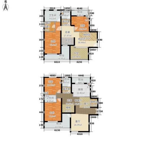 静安风华苑4室1厅4卫1厨264.00㎡户型图