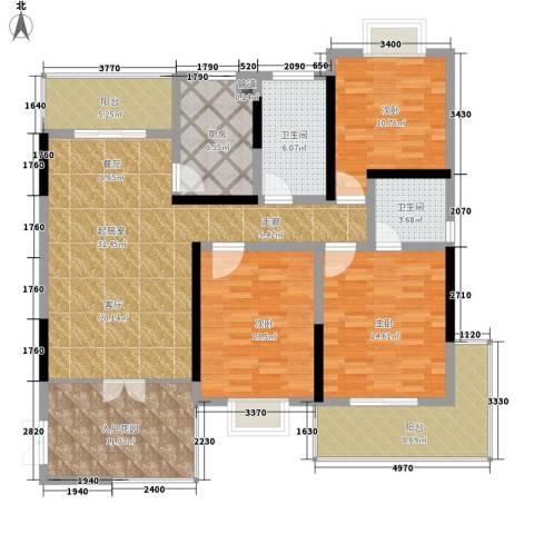 凤凰名城3室0厅2卫1厨129.00㎡户型图
