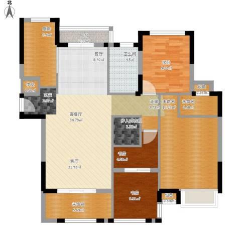 金地华公馆3室1厅1卫1厨136.00㎡户型图