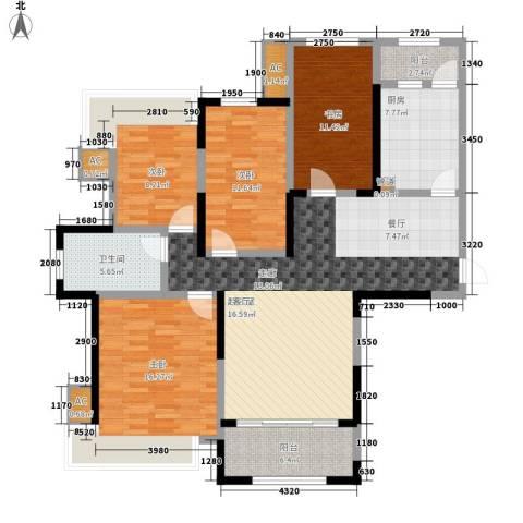 报业园4室0厅1卫1厨159.00㎡户型图
