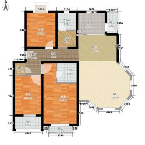 好世凤凰城3室1厅2卫1厨126.00㎡户型图