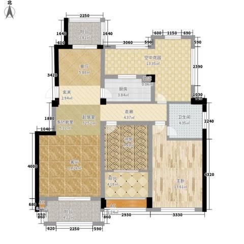 佳兆业悦湖2室0厅1卫1厨102.00㎡户型图