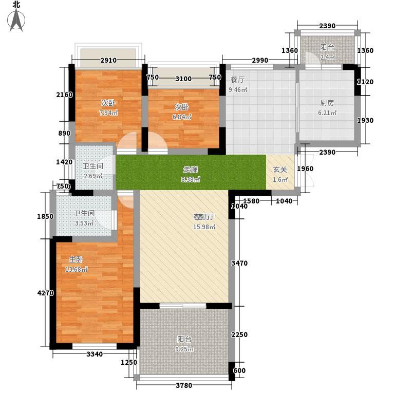 御城103.92㎡A户型3室2厅2卫1厨
