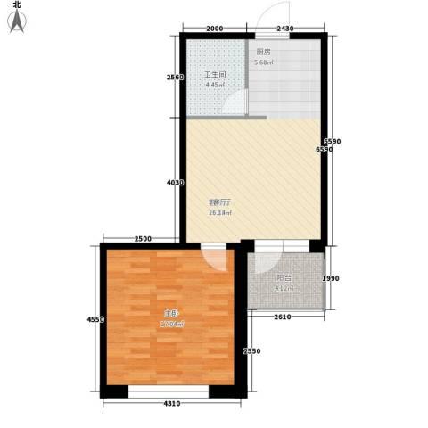 爱琴花园1室1厅1卫0厨55.00㎡户型图