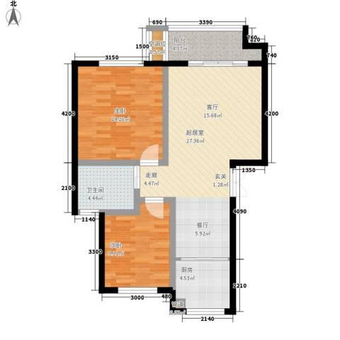帝景传说山邸2室0厅1卫1厨83.00㎡户型图