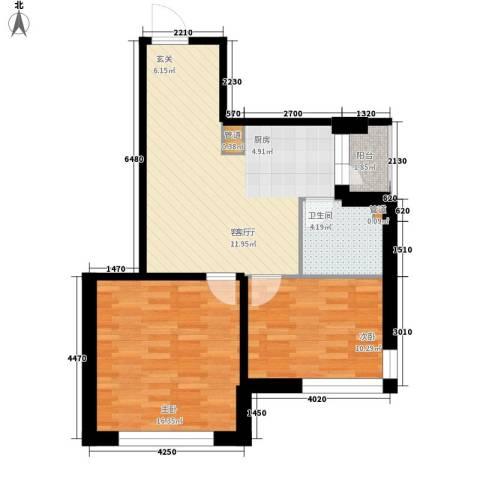 爱琴花园2室1厅1卫0厨68.00㎡户型图