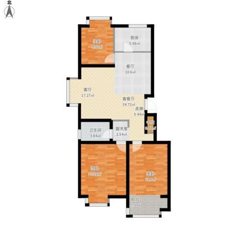 星光东昌丽都3室1厅1卫1厨127.00㎡户型图