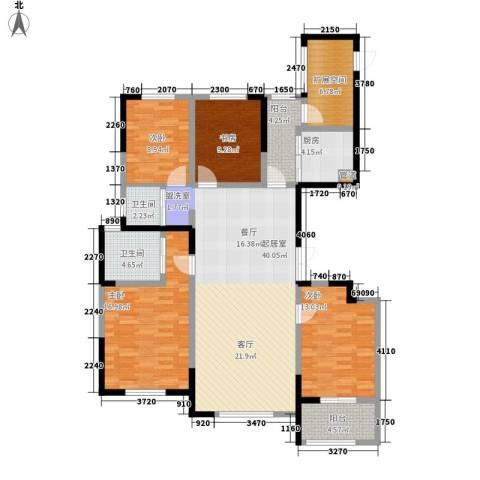 纳爱斯阳光锦城4室0厅2卫1厨154.00㎡户型图