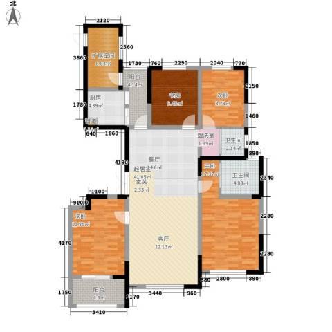 纳爱斯阳光锦城4室0厅2卫1厨152.00㎡户型图