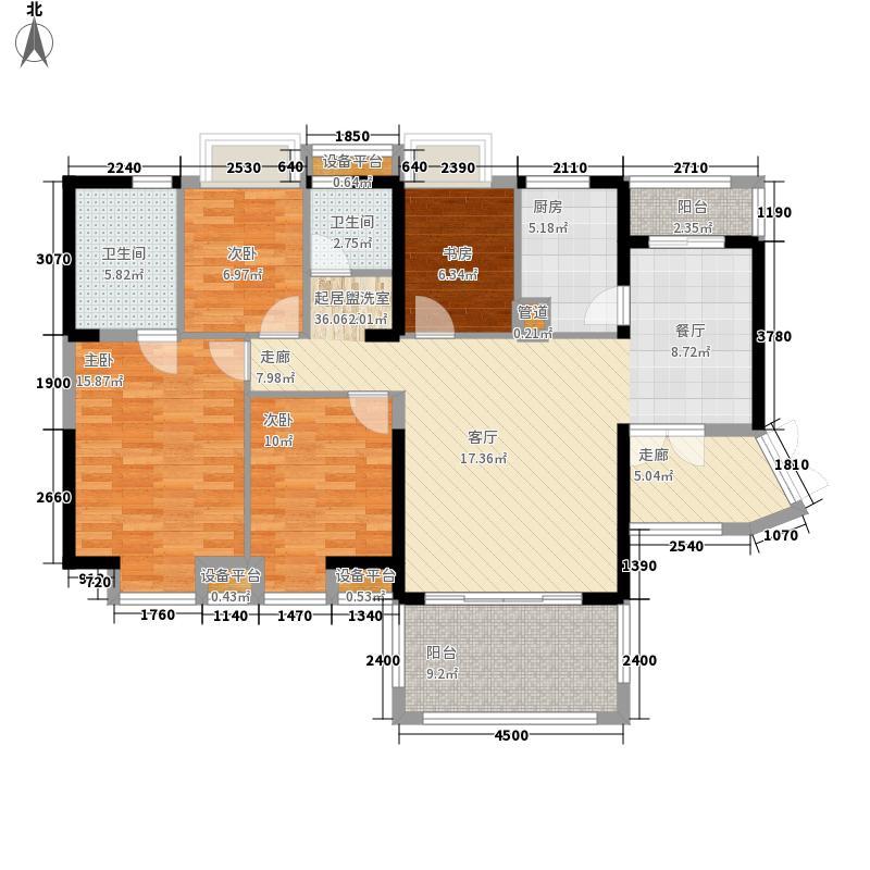 卓越东部蔚蓝海岸131.58㎡户型4室2厅