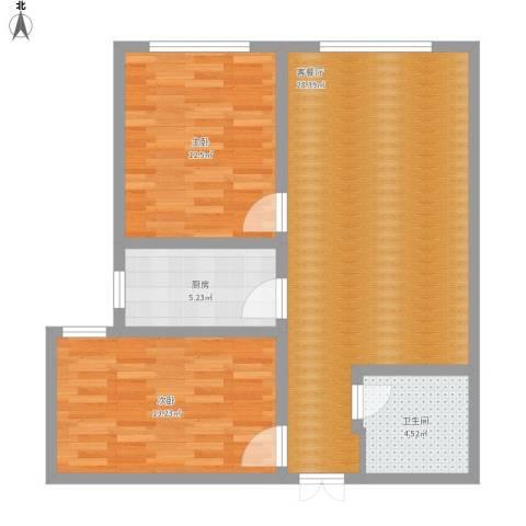 世纪嘉园2室1厅1卫1厨91.00㎡户型图