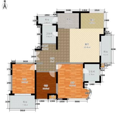 新时代富嘉花园3室1厅2卫1厨151.30㎡户型图