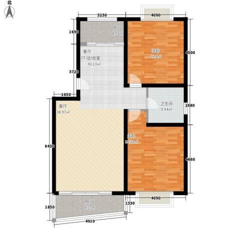 振华苑2室0厅1卫0厨106.00㎡户型图