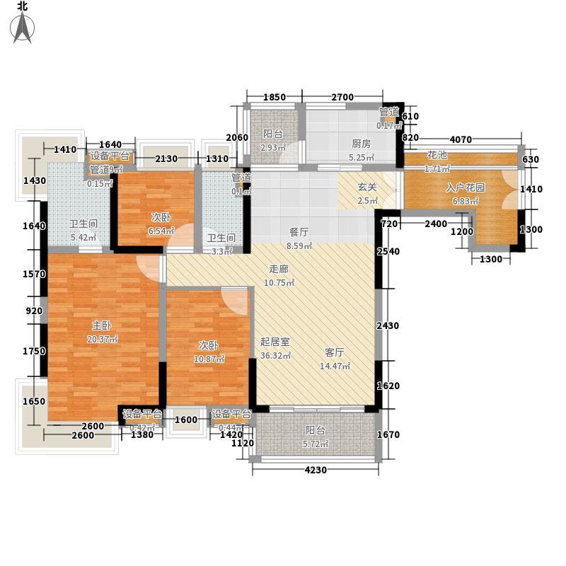 中惠璧珑湾135.00㎡10栋03户型3室2厅