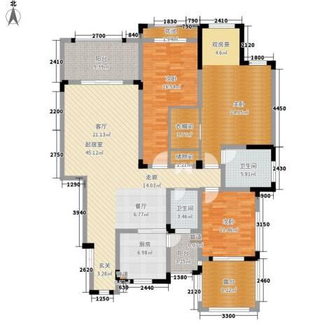蓝光十里蓝山3室0厅2卫1厨141.43㎡户型图