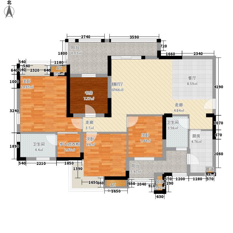 泽科港城国际一期5栋1、4号房户型3室2厅