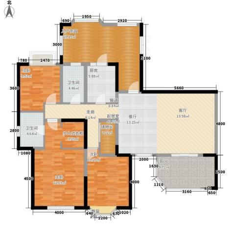 中环岛3室0厅2卫1厨151.21㎡户型图