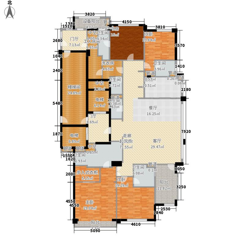 武林壹号299.00㎡K户型4室2厅5卫