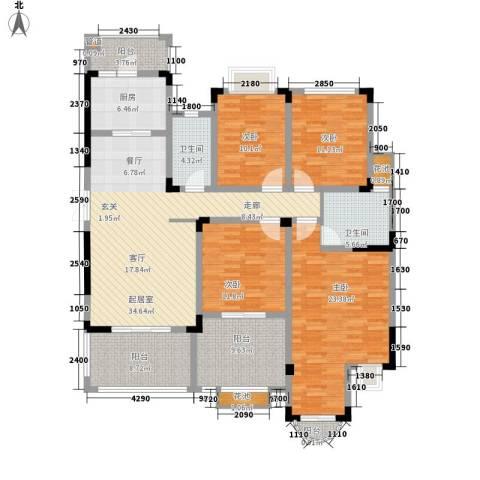 蓝光十里蓝山4室0厅2卫1厨132.55㎡户型图