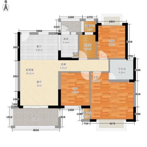 桥头文明商业城3室0厅2卫1厨123.00㎡户型图
