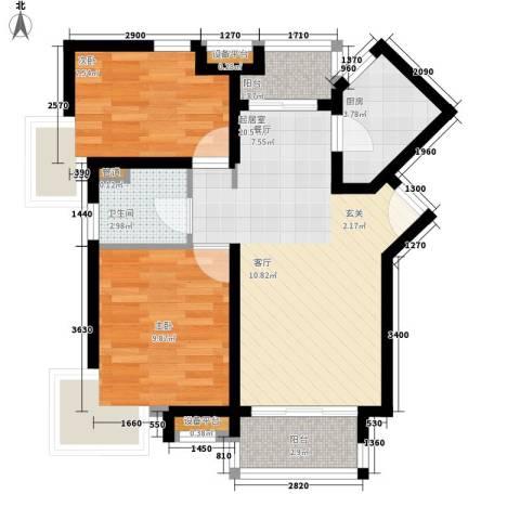 龙景花园2室0厅1卫1厨60.00㎡户型图