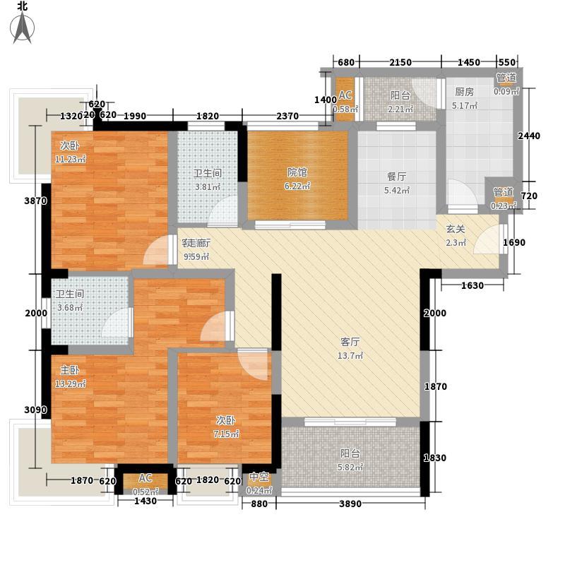 泽科港城国际高层4\5号楼C户型3室2厅