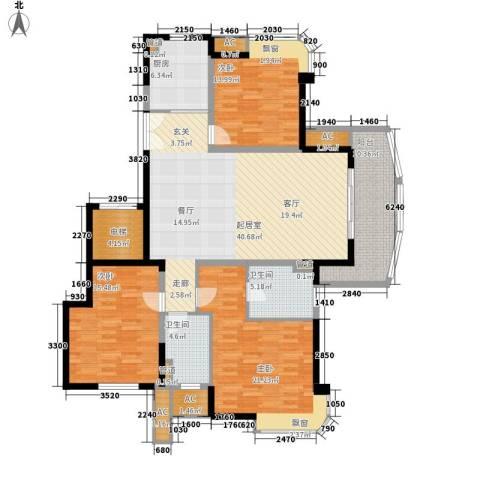 水岸帝景3室0厅2卫1厨140.00㎡户型图