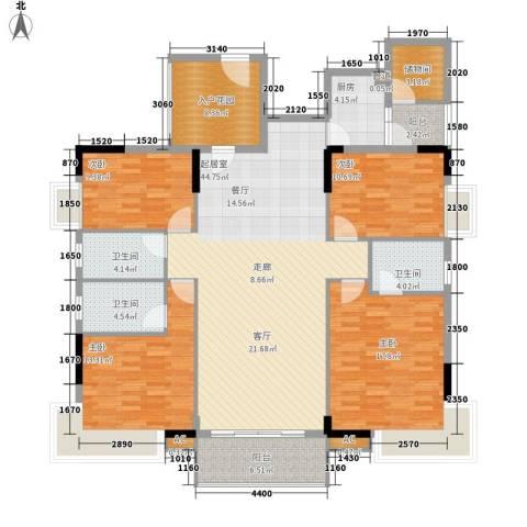 中堂东港城4室0厅3卫1厨170.00㎡户型图