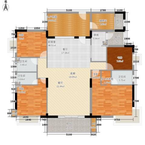 中堂东港城4室0厅3卫1厨175.00㎡户型图