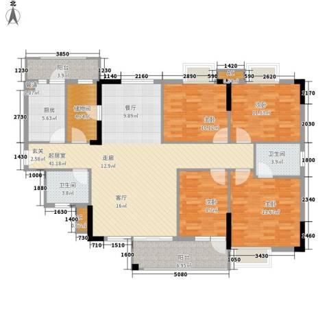 中堂东港城4室0厅2卫1厨137.00㎡户型图