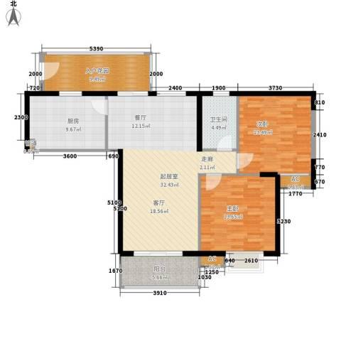 汇贤居2室0厅1卫1厨98.00㎡户型图