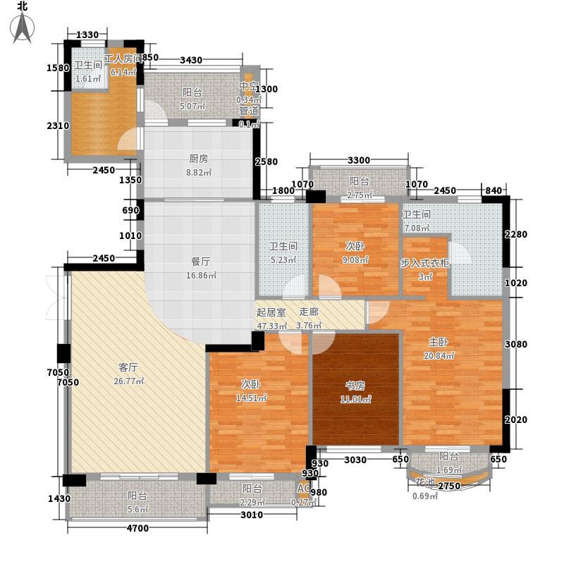 东田翠湖湾225.00㎡东田翠湖湾4室户型4室