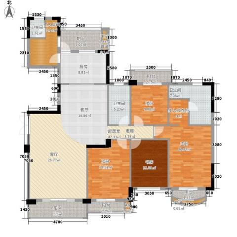 东田翠湖湾4室0厅3卫1厨225.00㎡户型图