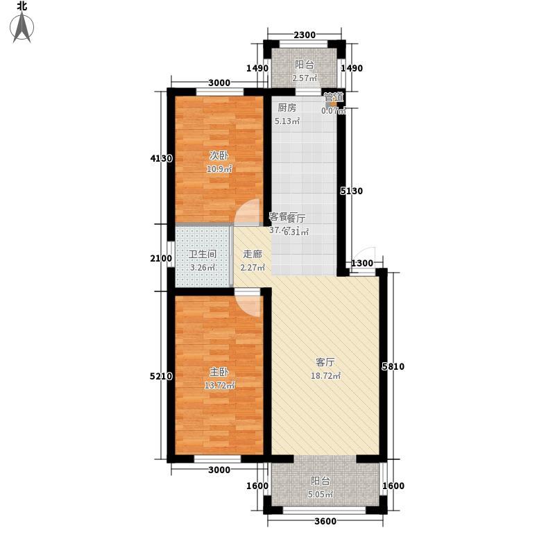 隆达丽景世纪城87.00㎡A7户型2室2厅1卫