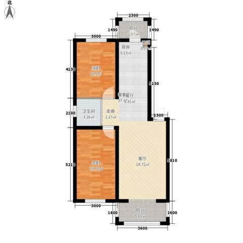 隆达丽景世纪城2室1厅1卫0厨87.00㎡户型图