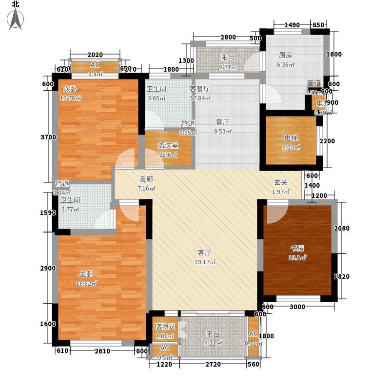 富奥临河湾140.43㎡富奥临河湾户型图高层23室2厅2卫户型3室2厅2卫