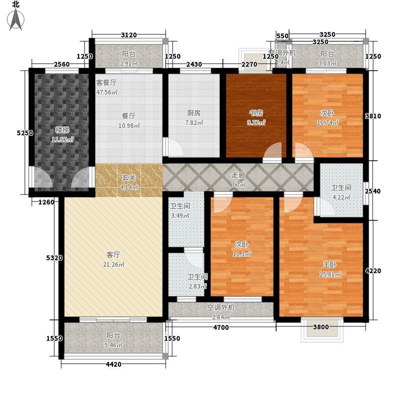 通和佳苑160.00㎡通和佳苑4室户型4室