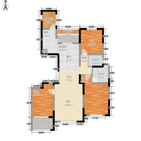 纳爱斯阳光锦城3室0厅2卫1厨140.00㎡户型图