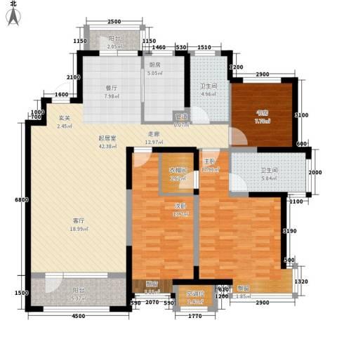 未名山II期3室0厅2卫1厨149.00㎡户型图
