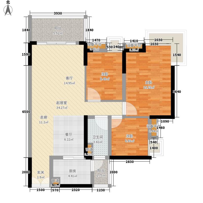 中惠璧珑湾108.00㎡10栋05户型3室2厅